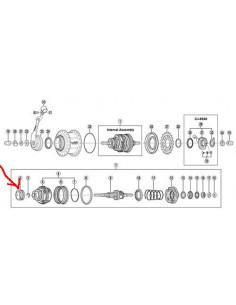 Bromssko 8-v 3-delad sg-8c/r shimano