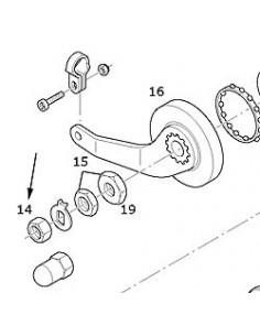 Hjulmutter 10,5 mm sram