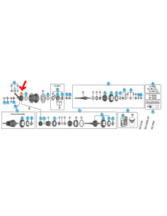 Bromsarm sg-c3000-7c-dx 7-v nexus shimano för 3-delad bromssko