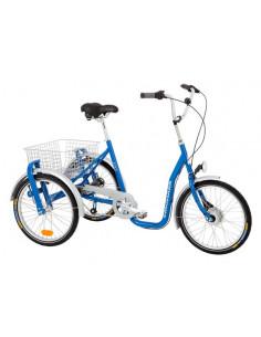 Trehjuling 20 tum med 2 hjul bak monark