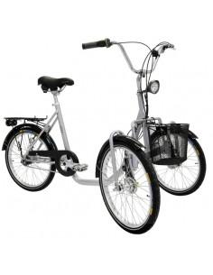 Trehjuling 20 tum med 2 hjul fram monark