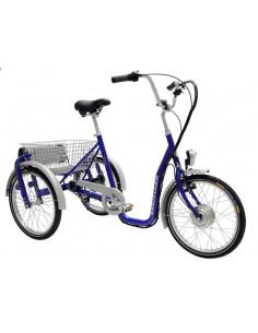 Trehjuling elassisterad 20 tum med 2 hjul bak monark