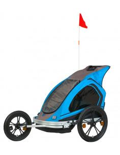 Cykelvagn wing för 2 barn + last spectra
