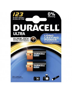 Batteri duracell cr123a 3 volt lithium 2-pack