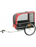 Cykel/Transport vagn svart/röd cavo