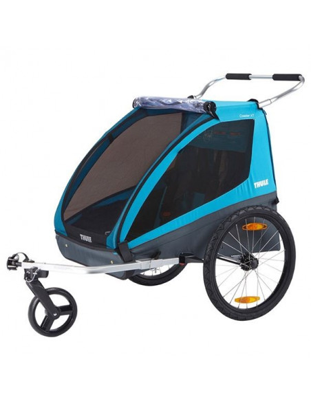 Cykelvagn coaster xt för 2 barn + last thule