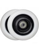 Hjul 100 mm nylon fälg m. 88a pu gummi, abec-5 lager tec