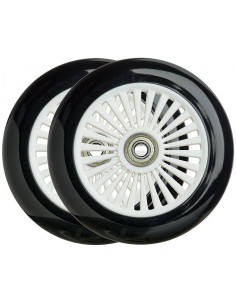 Hjul 120 mm nylon fälg m. 88a pu gummi, abec-5 lager spectra