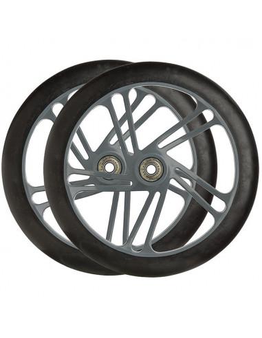 Hjul 200 mm nylon fälg m. 88a pu gummi, abec-7 lager spectra