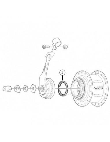 Kulring vänster yttre sg7c/c3000 nexus 7-v shimano