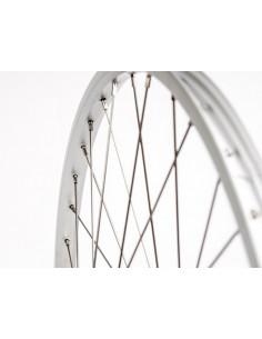 Hjul fram 24 tum (20-507) std silver fastaxel