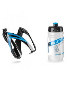 Flaskställ med flaska svart/blå elite