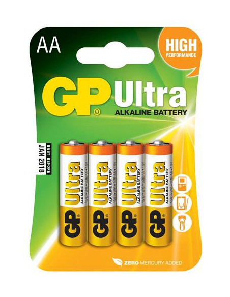 Batteri LR6 AA 15 V GP 4-Pack