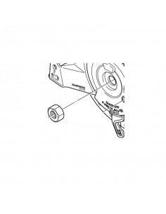 Låsmutter m10 x 8,2 mm för rullbroms bak bla. br-im70-r mfl shimano