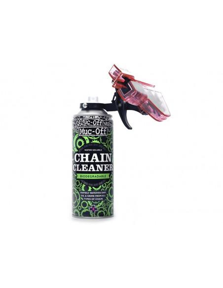 Kedjerengöring chain doc cleaner spray flaska 400 ml med kedjetvätt muc-off