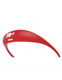 Pannlampa bandicoot usb laddning röd knog