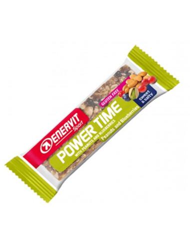 Power time bar jordnöt/blåbär 30 gram enervit